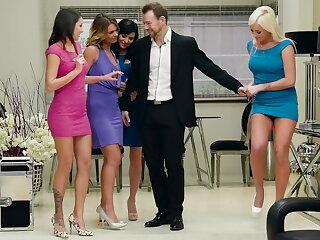 Meeting the girls