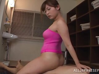 Hot Japanese amateur Satou Haruka moans during sex up a immigrant